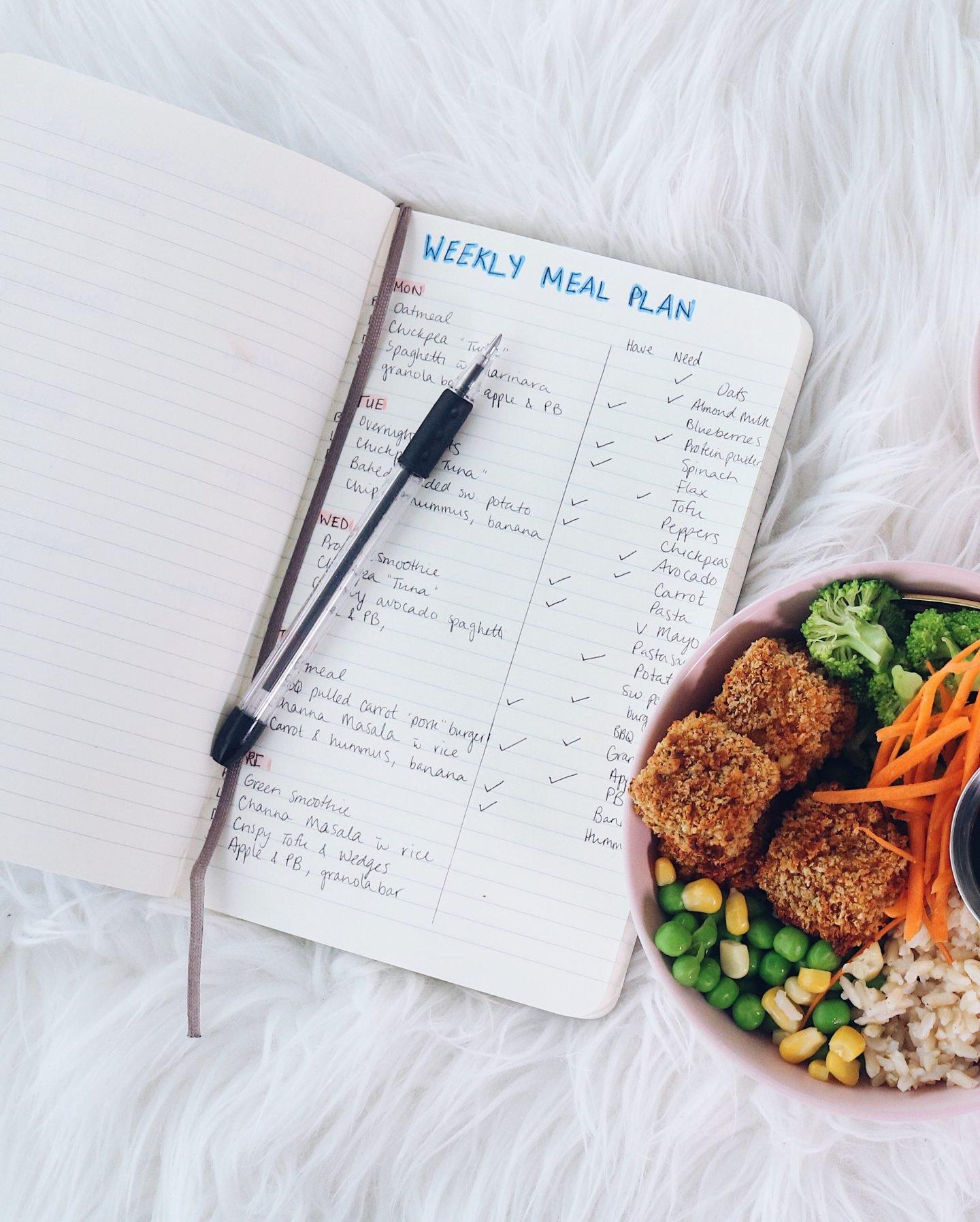 Meal Plan Journal Spread DIY