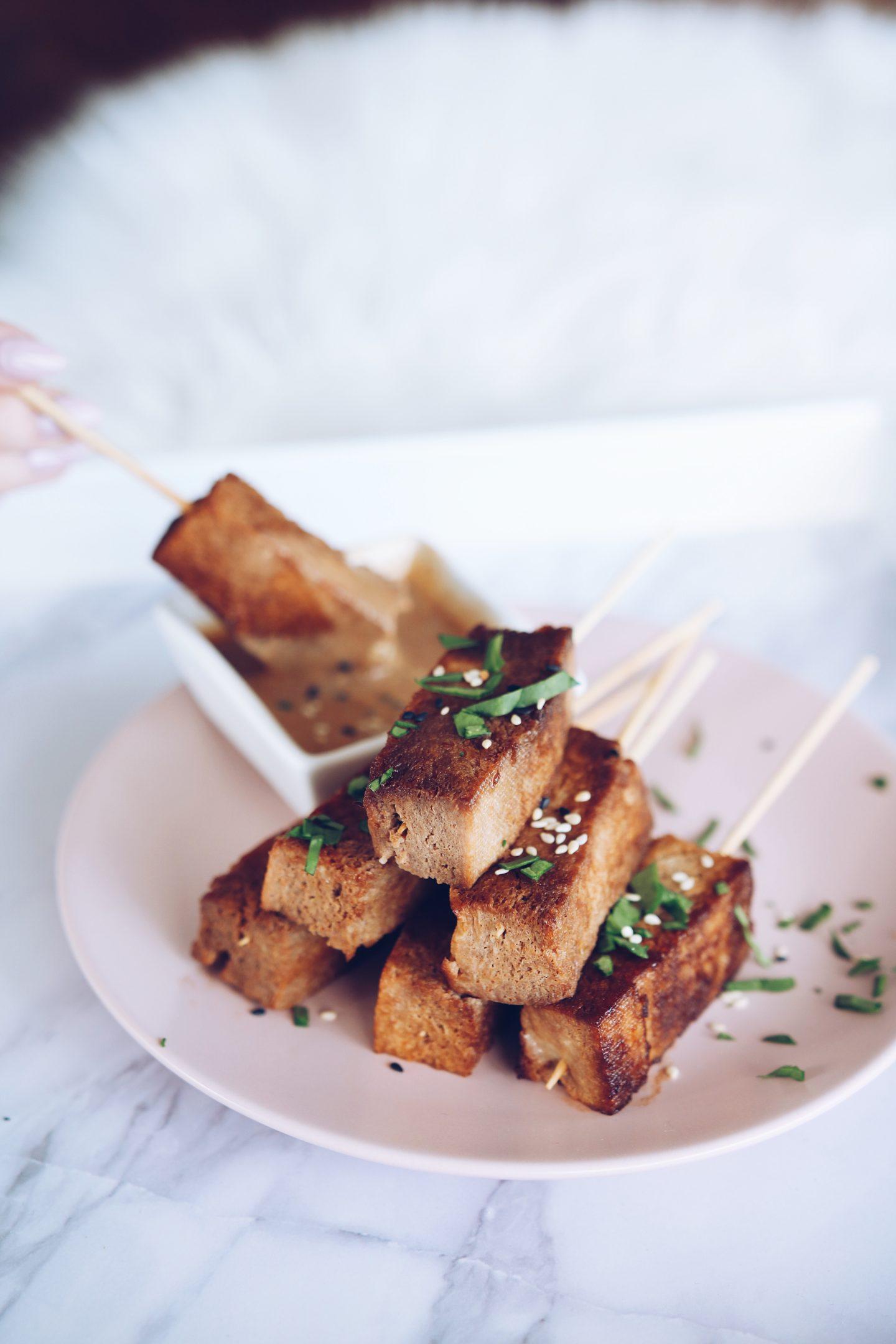 Crispy Tofu Skewers