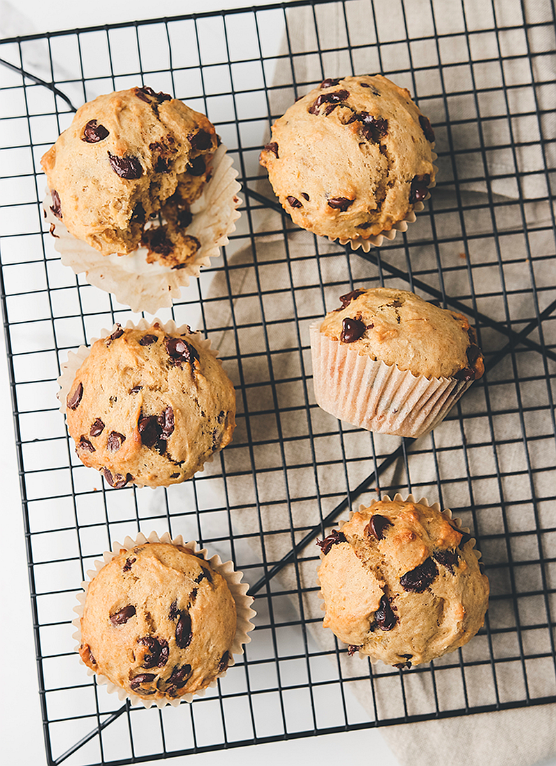 One-Bowl Chocolate Chip Banana Muffins