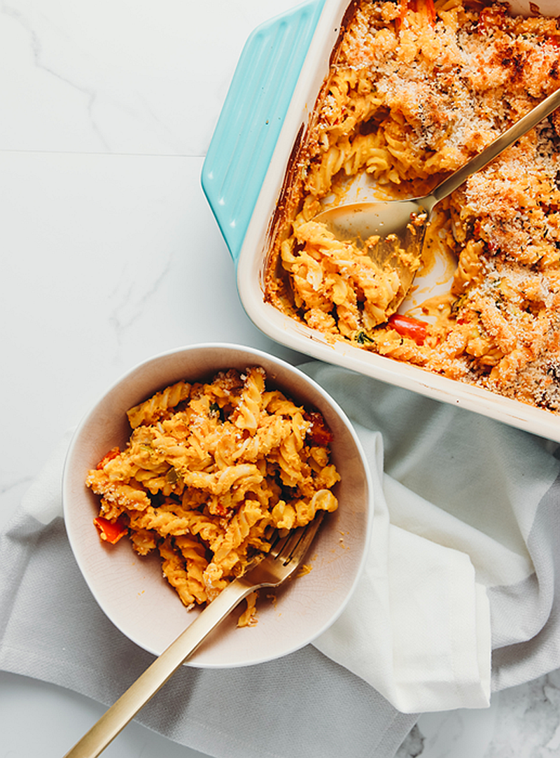 Creamy Sweet Potato Pasta Bake